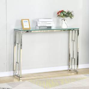 Armina Console Table (Chrome, Powder Coating Finish) by Urban Ladder - Cross View Design 1 - 367760