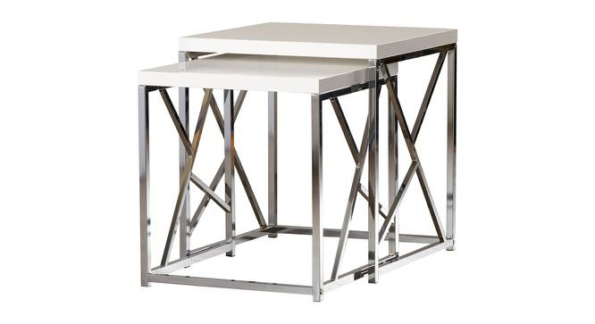 Bracken Side & End Table (Stainless Steel Finish, Chrome) by Urban Ladder - Cross View Design 1 - 367746