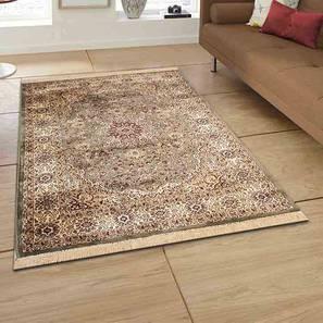 "Pirouz Carpet (Green, 122 x 183 cm  (48"" x 72"") Carpet Size) by Urban Ladder - Design 1 Half View - 367831"