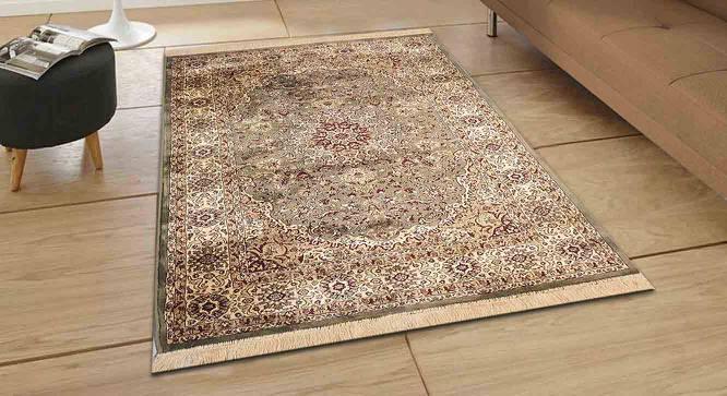 "Pirouz Carpet (Green, 152 x 213 cm  (60"" x 84"") Carpet Size) by Urban Ladder - Design 1 Half View - 367837"