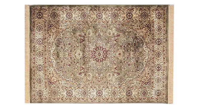 "Pirouz Carpet (Green, 152 x 213 cm  (60"" x 84"") Carpet Size) by Urban Ladder - Front View Design 1 - 367838"