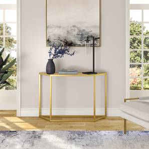 Poppy Console Table (Gold, Powder Coating Finish) by Urban Ladder - Cross View Design 1 - 368402