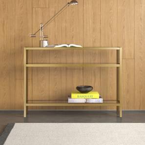 Stella Console Table (Gold, Powder Coating Finish) by Urban Ladder - Design 1 - 368490