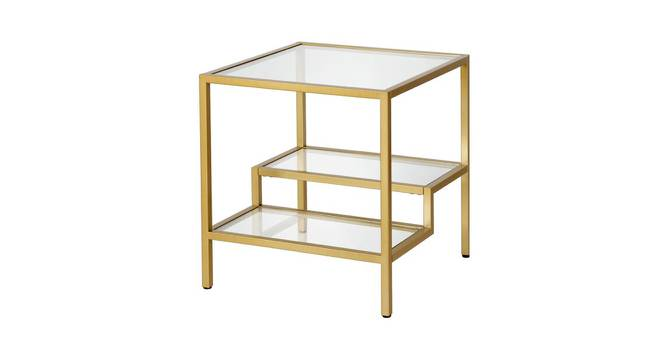 Scout Side & End Table (Gold, Powder Coating Finish) by Urban Ladder - Cross View Design 1 - 368495