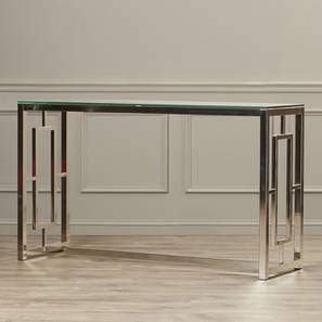 Waldo Console Table (Silver, Powder Coating Finish) by Urban Ladder - Cross View Design 1 - 368575