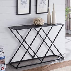 Zane Console Table (Black, Powder Coating Finish) by Urban Ladder - Cross View Design 1 - 368576
