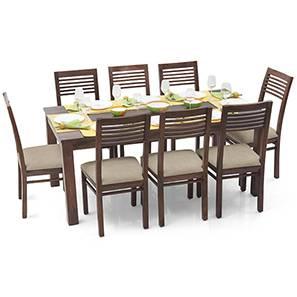 Arabia XL - Zella 8 Seater Dining Set (Teak Finish, Wheat Brown) by Urban Ladder