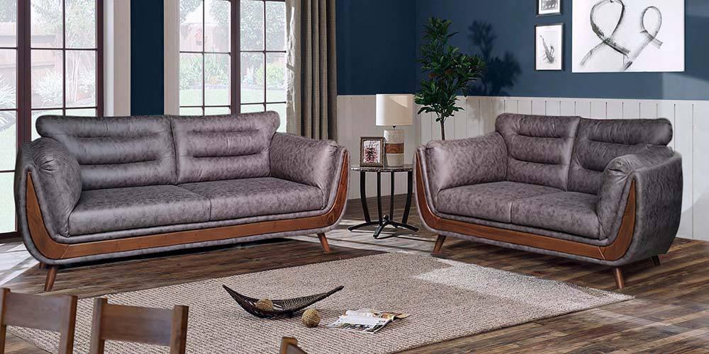 Cagliari Fabric Sofa - Grey by Urban Ladder - -