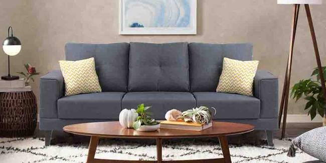 Harlem Fabric Sofa - Blue (Blue, 3-seater Custom Set - Sofas, None Standard Set - Sofas, Fabric Sofa Material, Regular Sofa Size, Regular Sofa Type)