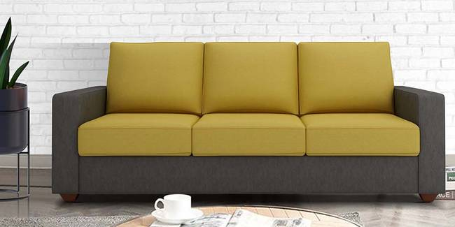 Palma Fabric Sofa - Grey & Yellow (3-seater Custom Set - Sofas, None Standard Set - Sofas, Grey & Yellow, Fabric Sofa Material, Regular Sofa Size, Regular Sofa Type)