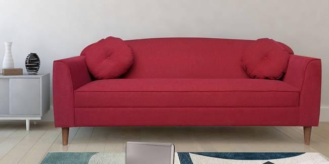 Rosari Fabric Sofa - Red (Red, 3-seater Custom Set - Sofas, None Standard Set - Sofas, Fabric Sofa Material, Regular Sofa Size, Regular Sofa Type)