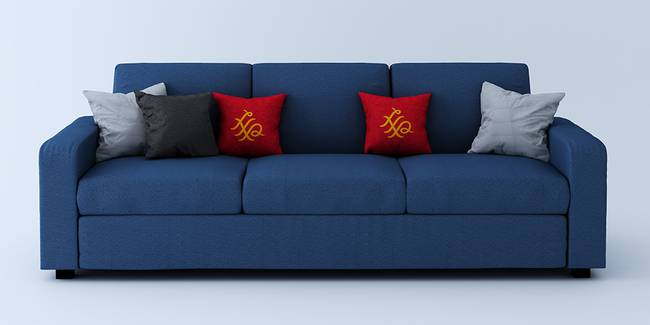Burrey Fabric Sofa - Blue (Blue, 3-seater Custom Set - Sofas, None Standard Set - Sofas, Fabric Sofa Material, Regular Sofa Size, Regular Sofa Type)
