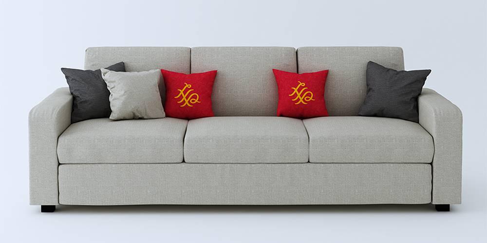 Burrey Fabric Sofa - Beige by Urban Ladder - -