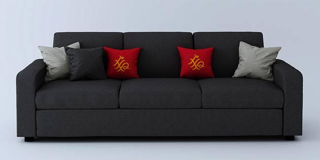 Burrey Fabric Sofa - Brown (Brown, 3-seater Custom Set - Sofas, None Standard Set - Sofas, Fabric Sofa Material, Regular Sofa Size, Regular Sofa Type)
