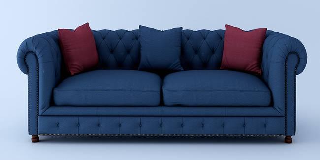 Clermont Fabric Sofa - Blue (Blue, 3-seater Custom Set - Sofas, None Standard Set - Sofas, Fabric Sofa Material, Regular Sofa Size, Regular Sofa Type)