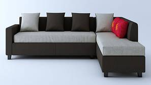 Clarendon Sectional Sofa - Brown & White