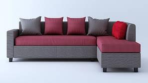 Clarendon Sectional Sofa - Grey & Pink