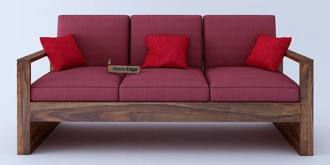 Picton Wooden Sofa - Pink (Pink, None Custom Set - Sofas, 3-1-1 Set Standard Set - Sofas, Regular Sofa Size, Regular Sofa Type, Solid_Wood Sofa Material)