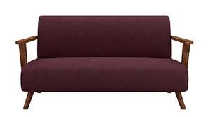 Novena Wooden Sofa  - Maroon