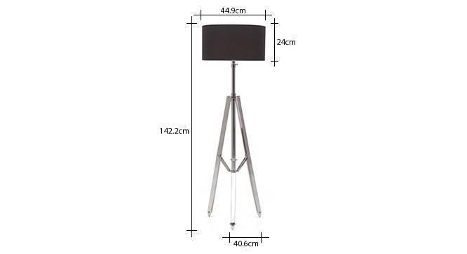Issac tripod floor lamp cotton black drum shade 8 img 0232 dm