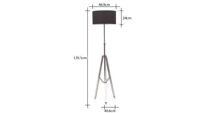 Issac tripod floor lamp cotton black drum shade 9 img 0236 dm