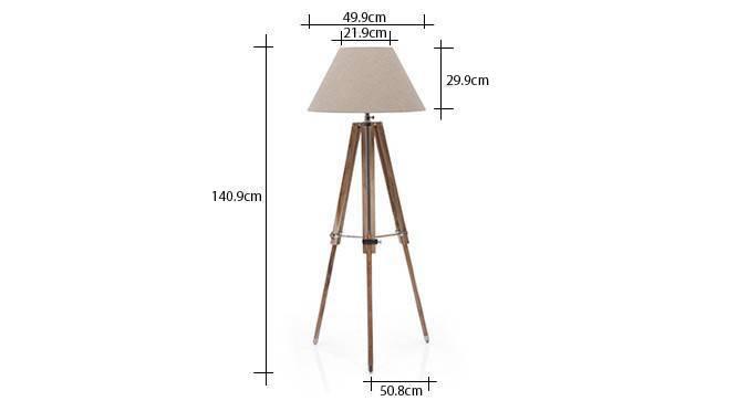 Kepler tripod floor lamp natural linen conical shade 9 img 0151 dm