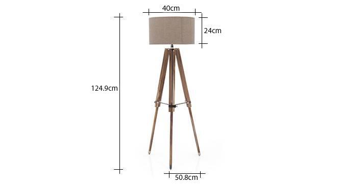 Kepler tripod floor lamp natural linen drum shade replaced 4
