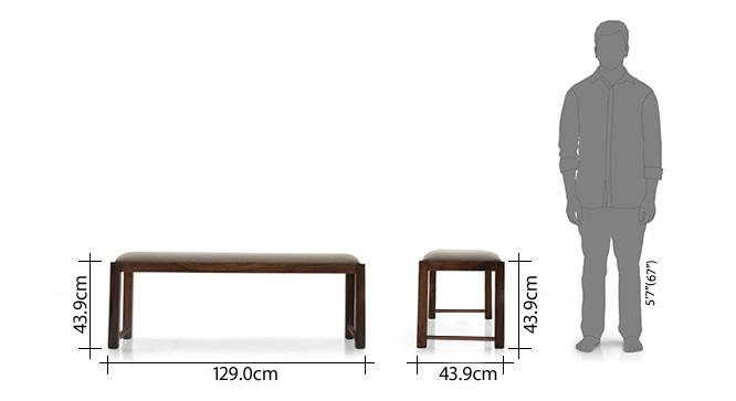 Oribi upholstered dining bench teak wheat brown 8