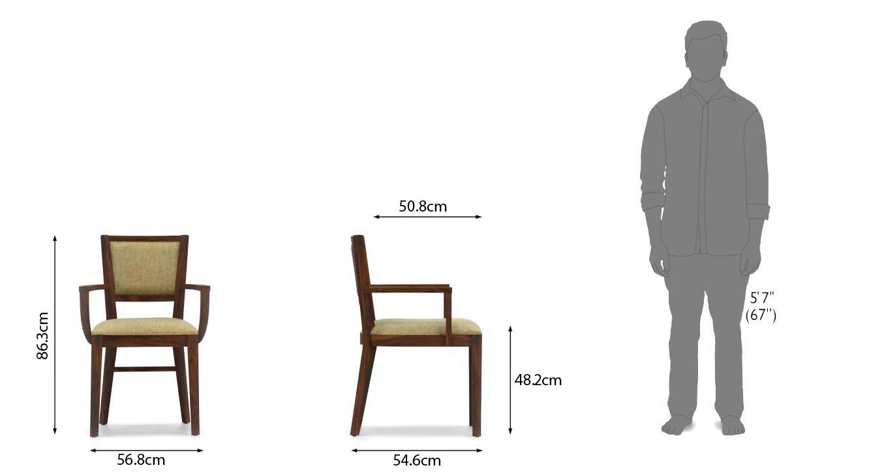 Aurelio study chair teak finish sandstorm dim 116