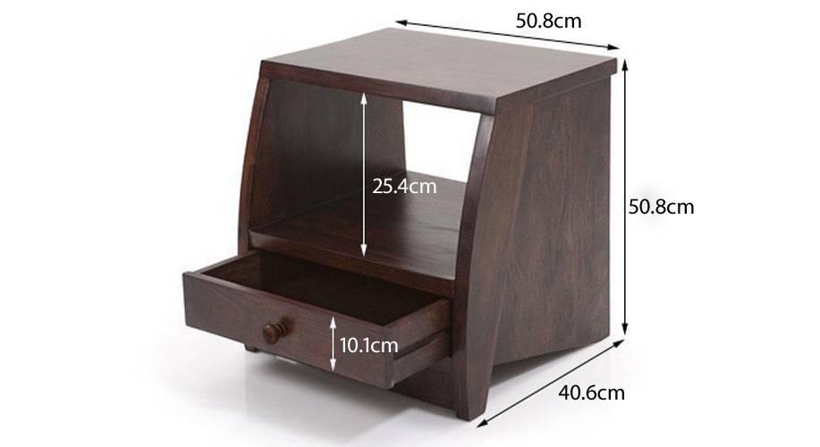 Siesta bedside table mahogany 08 9