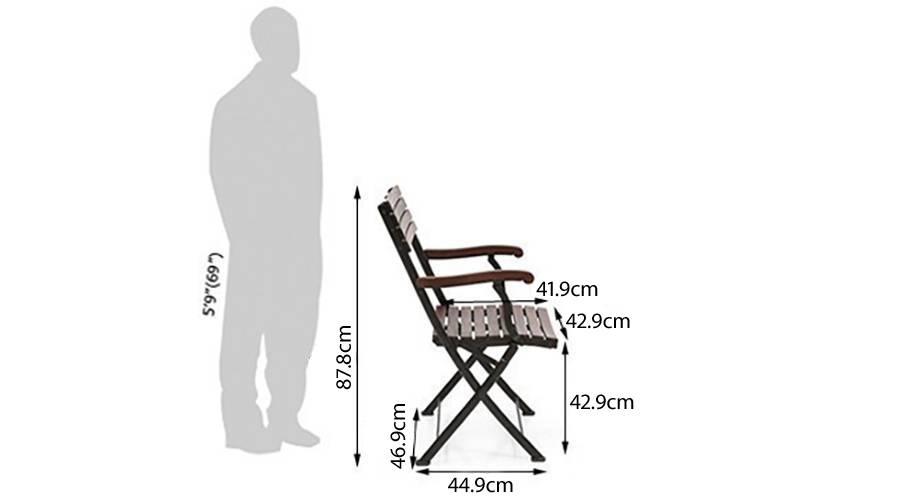 Masai arm chair table set teak finish 06 6 1 1