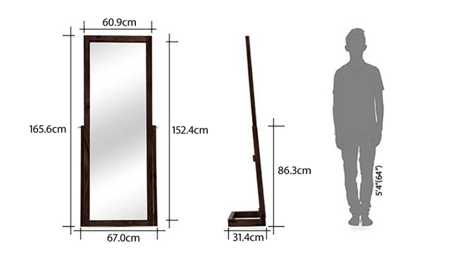 Sirius Standing Mirror (Mahogany Finish) by Urban Ladder - -