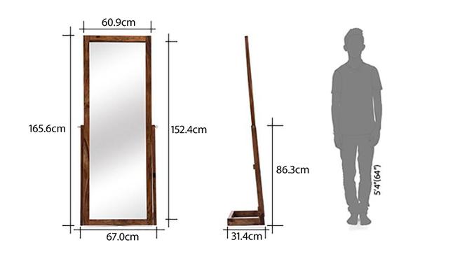 Sirius Standing Mirror (Teak Finish) by Urban Ladder - -