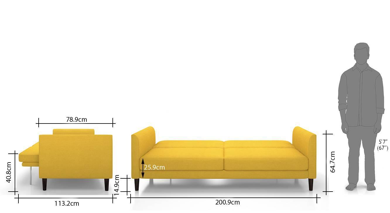 Felicity sofa cum bed yellow 11