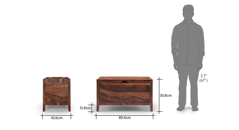 Rhodes storage chest teak finish