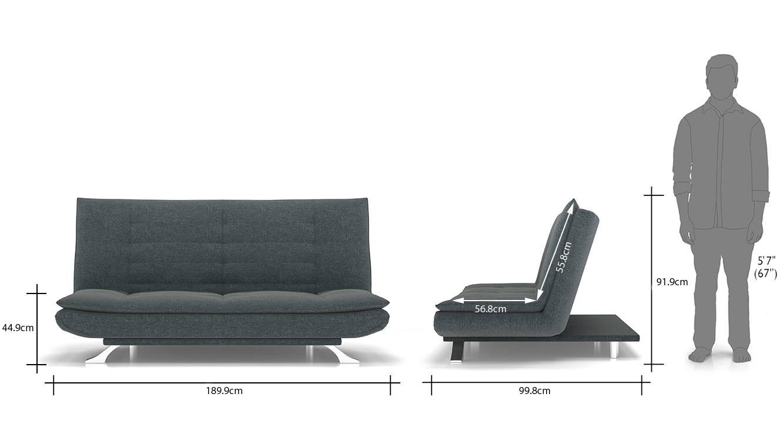 Edo sofa cum bed grey new 111