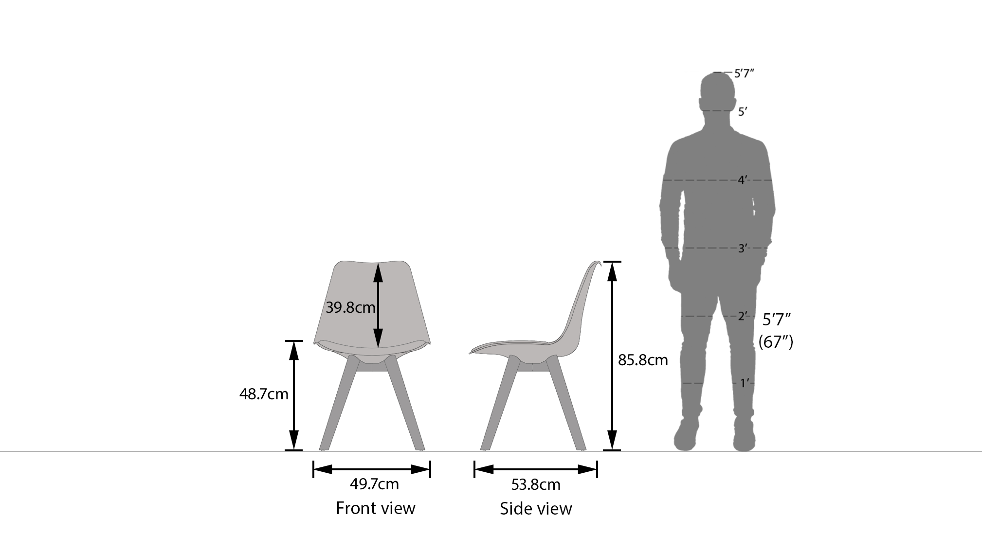 Pashe chair dimension replace