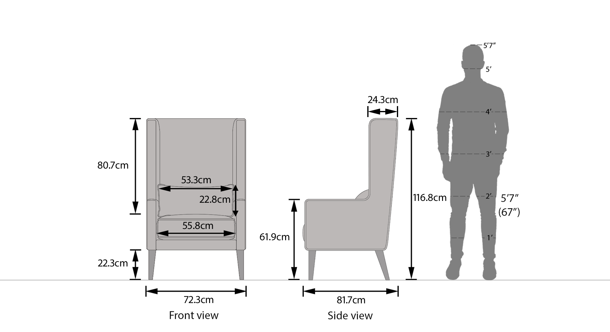 Morgen wing chair new dim 44