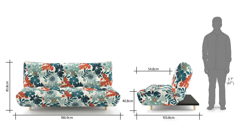 Palermo sofa cum bed floral 09