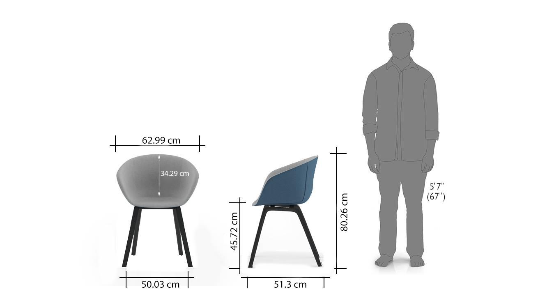 Poulain accent chairs twotone dim1