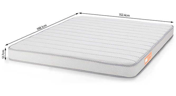 Theramedic Memory Foam Mattress with Temperature Control (Queen Mattress Type, 78 x 60 in (Standard) Mattress Size, 5 in Mattress Thickness (in Inches)) by Urban Ladder - -