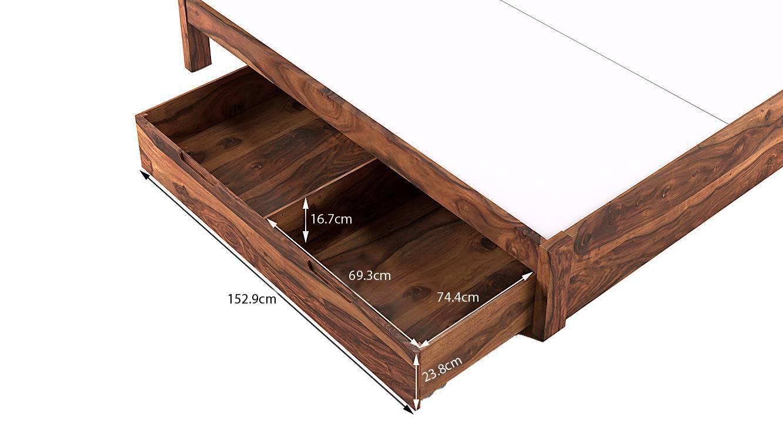 Florence storage bed teak finish king bed size monochrome paisley drawer storage type dim003