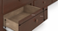 Fitzroy Single Bed with Trundle and Storage (Single Bed Size, Dark Walnut Finish) by Urban Ladder - -