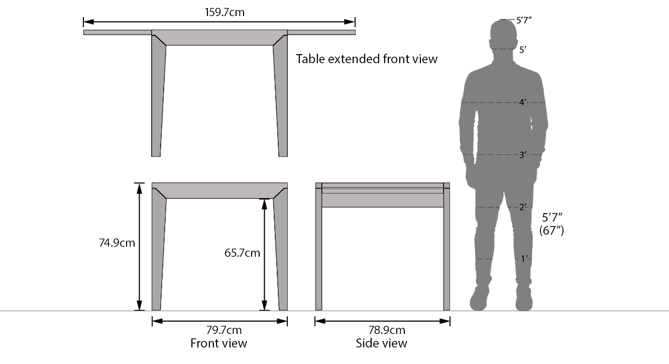 Murphy extendable dining table 8
