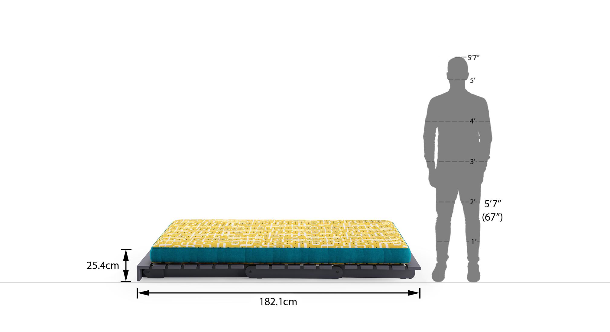 Finn futon sofa bed aqua 7