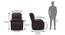 Lebowski Recliner (One Seater, Dark Chocolate Leatherette) by Urban Ladder - -