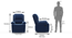 Lebowski Recliner (One Seater, Cobalt Fabric) by Urban Ladder - -