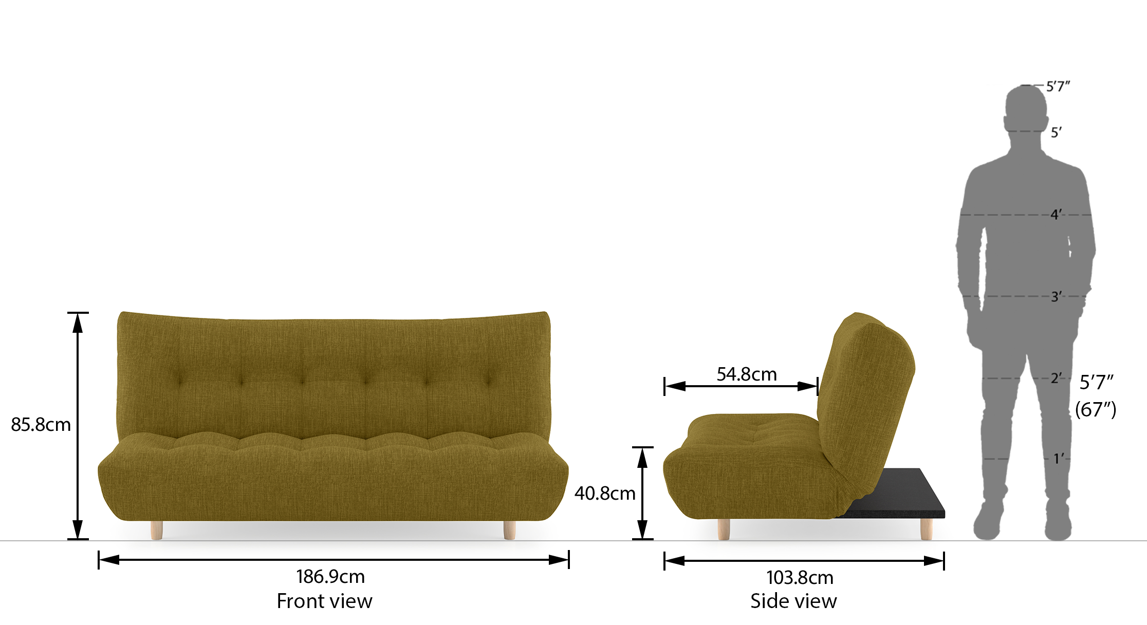Palermo sofa bed olive 21