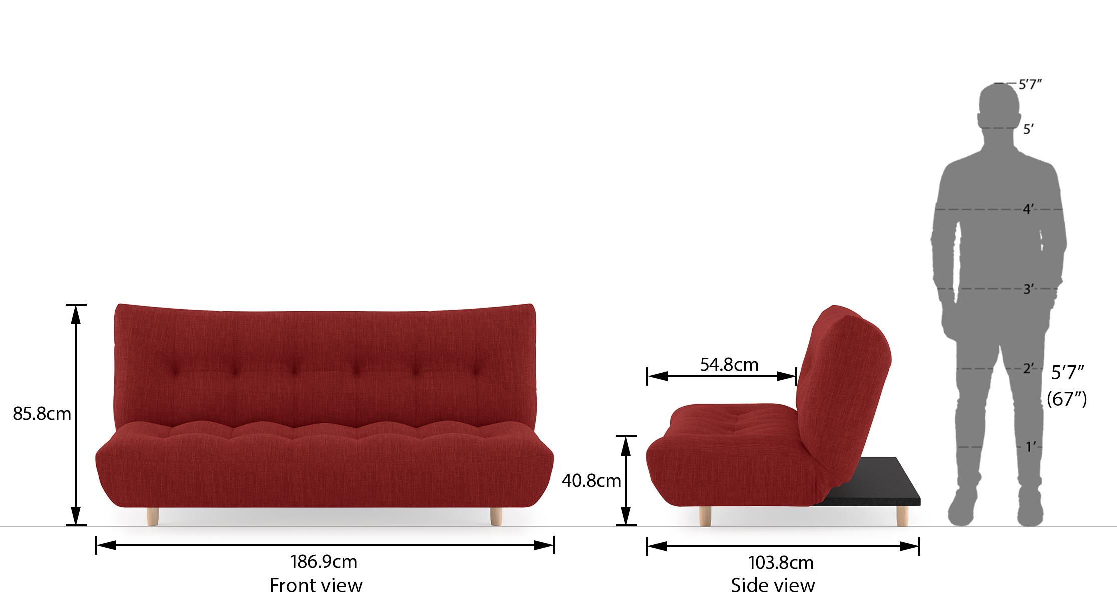 Palermo sofa bed salsa 21