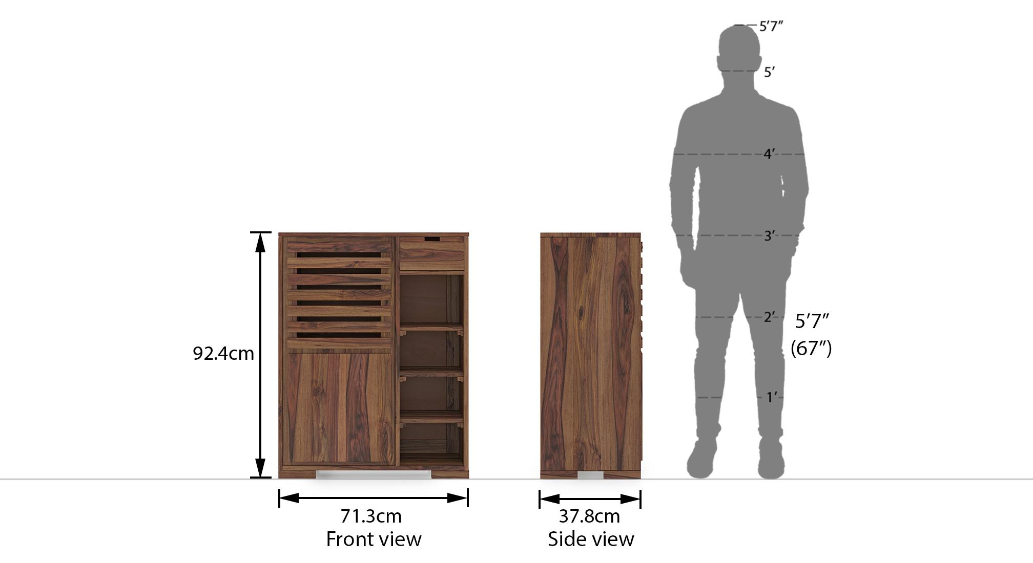 Madden shoe cabinet teak 14